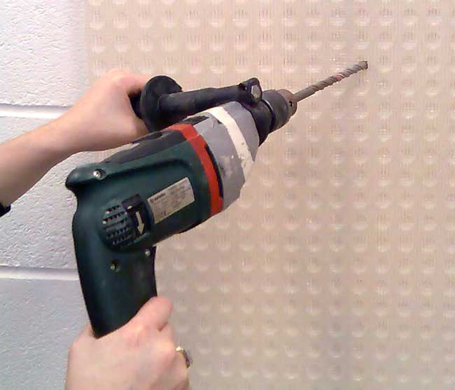 Drilling Membrane using a Masonry Bit