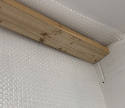First step - hang the Kontract Membrane from the ceiling and tape any joints