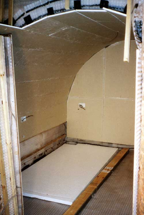 Partly lined cellar - some plasterboard in place