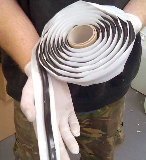 Mastic Rope on a roll - for neck seal on Mesh Membrane Plugs