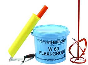 Flexible crack filler grout